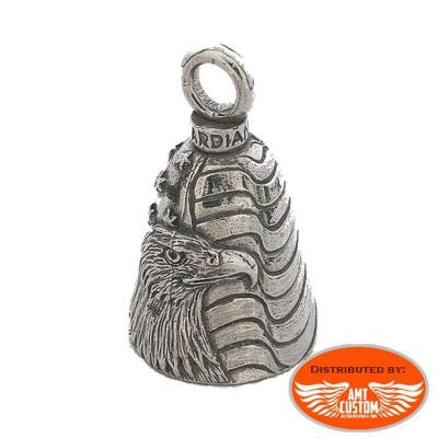 Clochette Aigle US Flag porte-bonheur moto Guardian Bell