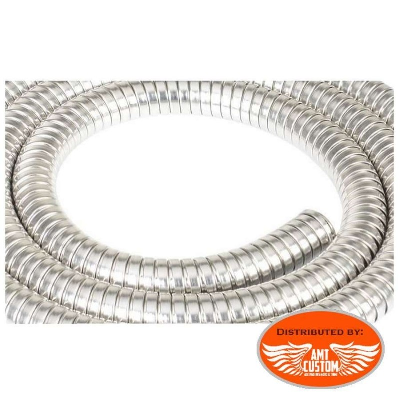 Gaine acier inoxydable spirale pour cables moto