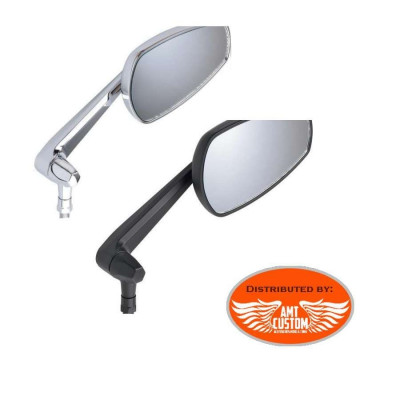 Mirror orientable chrome or black Universal motorcycles