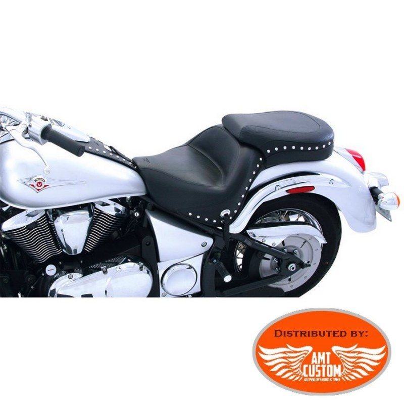 Kawasaki VN900 Vulcan duo seat with studded and conchos