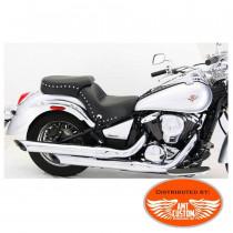 selle bi place pour Kawasaki VN900 Vulcan Selle Duo clous et conchos VN 900  Vulcan Classic et Custom