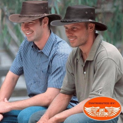 Barmah Hats Brown leather hat.
