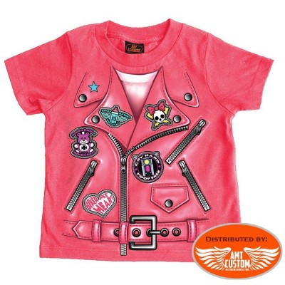 Little Lady Rider Perfecto motocycle t-shirt