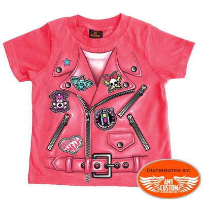 T-shirt Perfecto Mini Lady Rider Biker moto.
