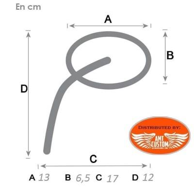Rétroviseurs Custom Chrome Ovale dimensions