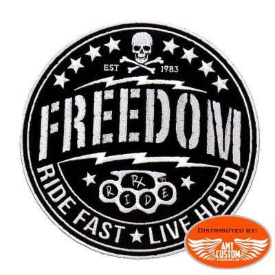 Patch écusson Biker Skull Freedom.