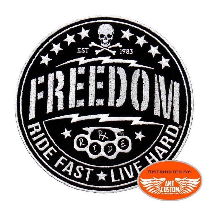 Patch écusson Biker Skull Freedom.