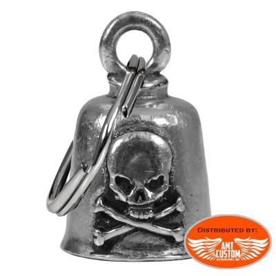 Clochette Skull Bones porte-bonheur moto Gremlin Bell