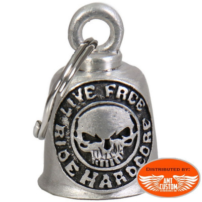 Clochette Skull Hardcore porte-bonheur moto Gremlin Bell