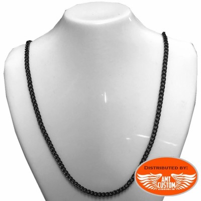 Black Chain necklace for pendant stainless steel
