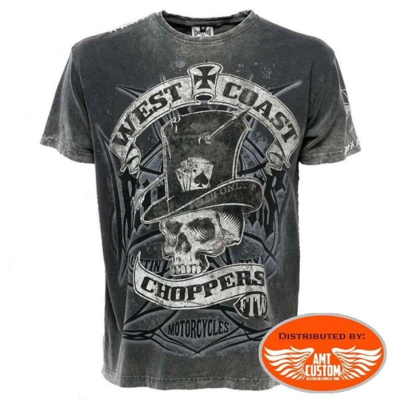 Tee-shirt West Coast Choppers Cash Only motor chopper