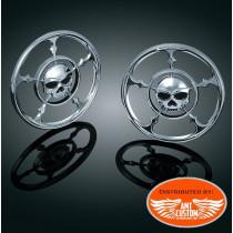 Touring Electra grilles Skull chrome haut parleur pour Harley Electra FLHTC FLHTK FLRTU FLHX et Trike