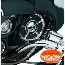 Touring Electra 2x Speaker Grilles Skull Harley Electra FLHTC FLHTK FLHX and trike