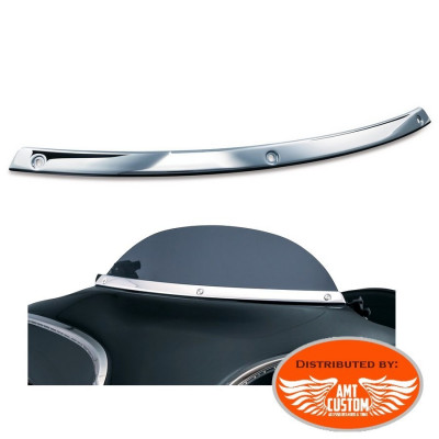 Touring Chrome fairing Windshield Trim for Harley Electra, Street Glide, Road King et Trikes Tri Glide