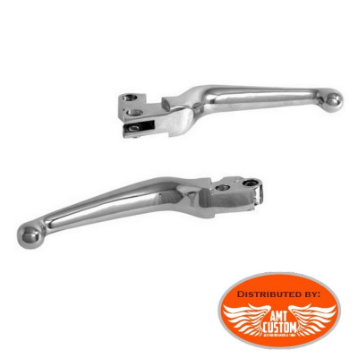 Chrome Set levers and Clutch for SPORTSTER motorcycles Harley XL883 Xl1200, Iron, Seventy Two, Forty Eight, Roadster, ...