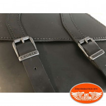 Swingarm bag for Dyna Harley Davidson Leather  details view