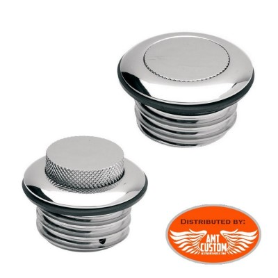 Chrome POP-UP Gas Caps quarter-turn for Harley Davidson
