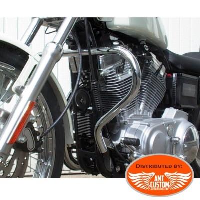 Sportster 88/05 Pare-cylindre Chrome XL 883 et 1200 - Pare jambes / pare carter pour Harley de1988 à 2003