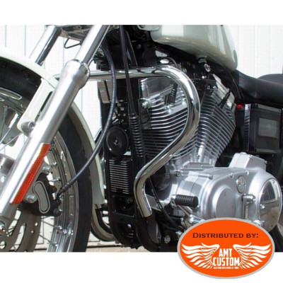 Sportster 88/03 Pare-cylindre Chrome XL 883 et 1200 - Pare jambes / pare carter pour Harley de 1988 à 2003