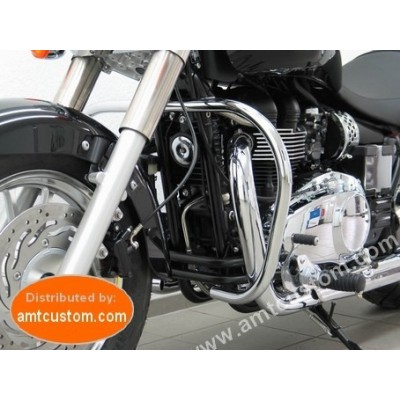 Pare-cylindre Triumph America - Barre protège cylindre Chrome