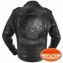Blouson Perfecto Cuir Skull Hells-Design