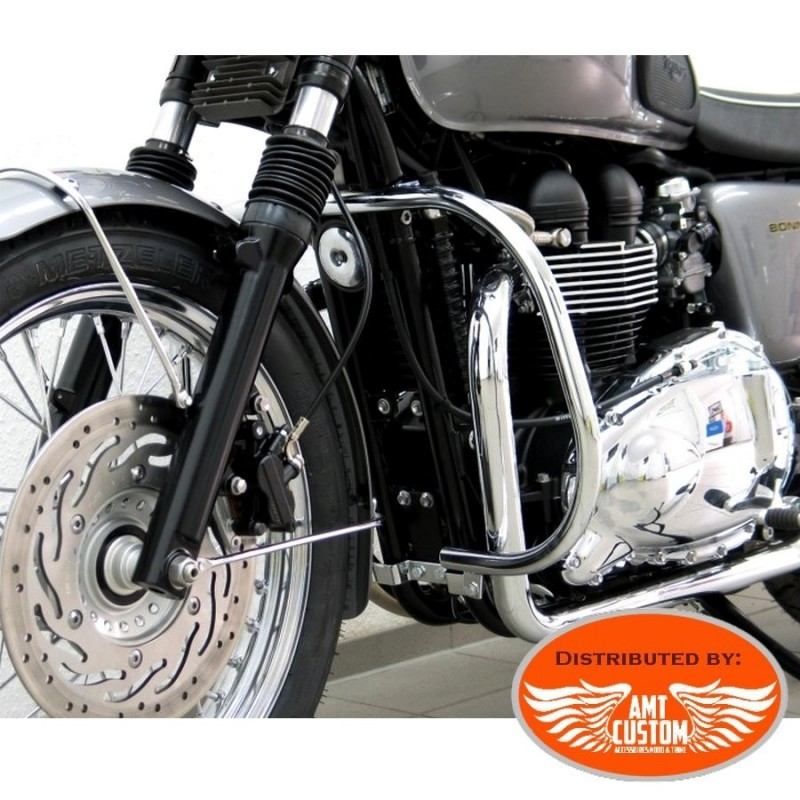 Triumph Pare-cylindre Chrome Bonneville T100, Scrambler, Thruxton