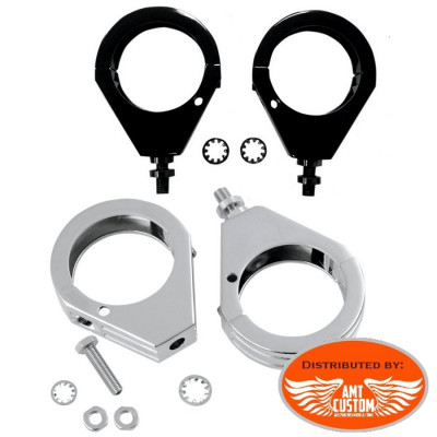 Turn Signal Fork clamps chrome or black from 39 to 49mm