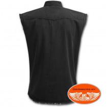 Chemise Jeans noire unie vue de dos