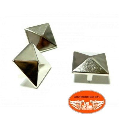 Lot de 20 rivets pyramides gris pour sacoches.