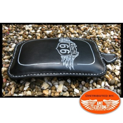 Black Passenger seat Road 66 for solo seat motorcycle Universal Bobber Custom Choppers