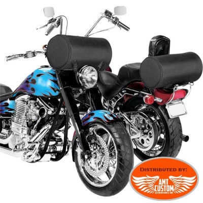 Roll Bag for handlebars or sissy bar rack motorcycles