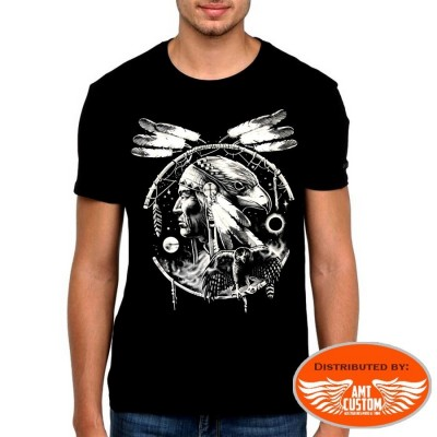 T-Shirt Catching Dreams Indian and Eagle motorcycles custom