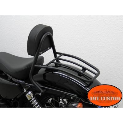 Dyna Driver Black Sissy Bar for Low Rider FXDL, Street Bob FXDB, Fat Bob FXDF Harley