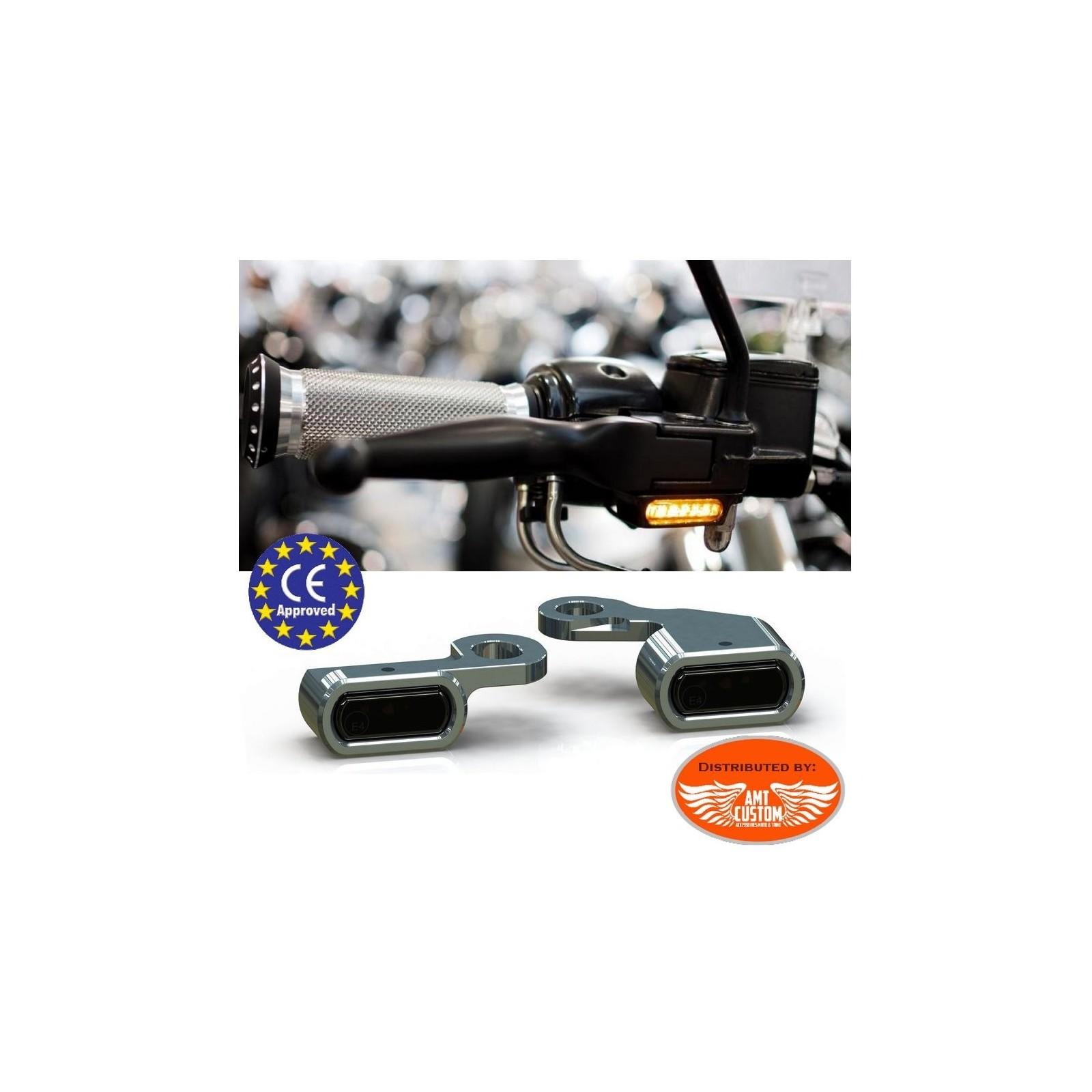 Clignotants Montage Plaques Mini clignotants D 5 pour tous Harley Davidson Modèles Softail