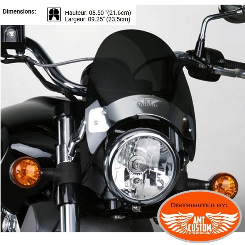 Bulle / Pare-Brise / Saut de vent Custom teinté foncé Harley Honda Yamaha Kawasaki Suzuki Indian ...