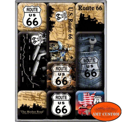 9 Magnets Route 66 original