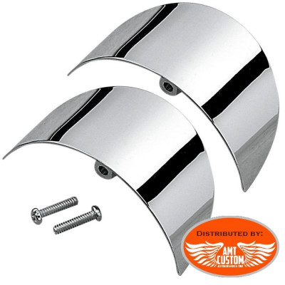 Touring & Softail Set Pair of turn signal visors cap for Harley Davidson
