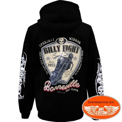Veste capuche Biker Billy Eight Bonneville.