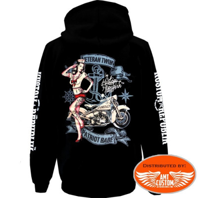 Patriot Babe Hooded Sweat Jacket Kustom Republik