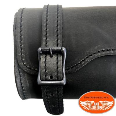 Sacoche outils cuir Brun LEDRIE - Pour fourche