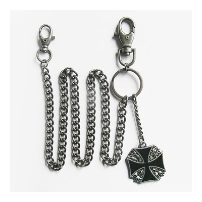 Wallet key chain Skull Maltess Cross