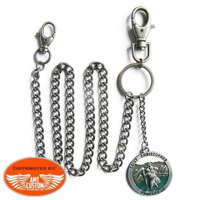 Wallet key chain Saint Christopher