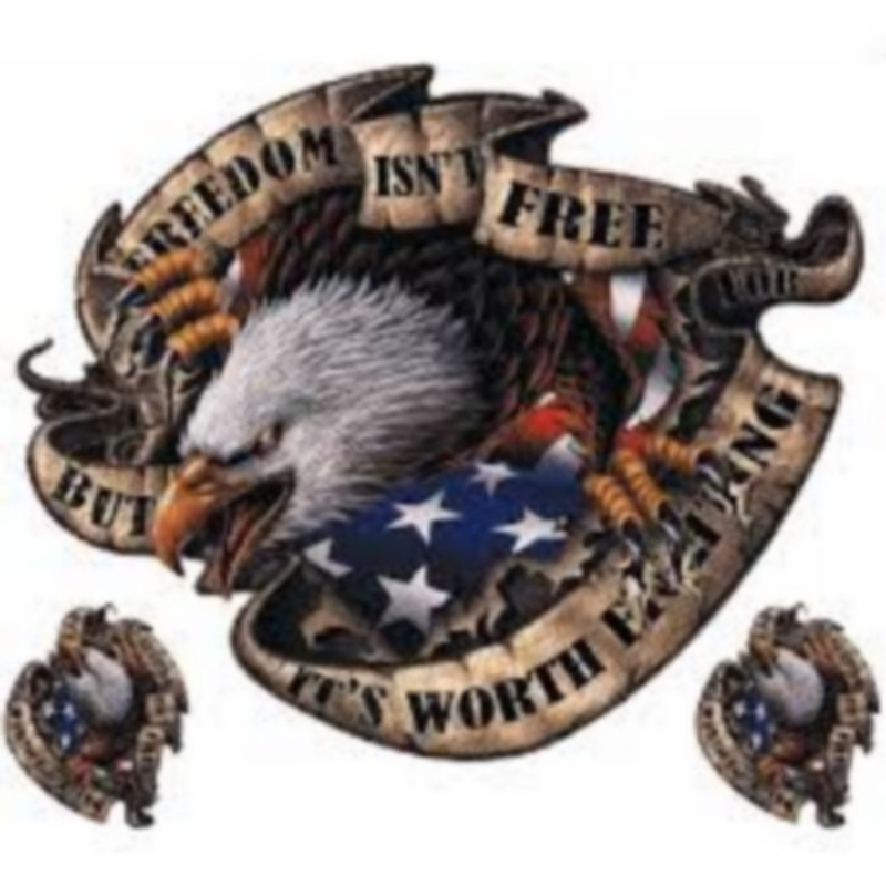 Sticker Eagle Freedom US Biker decal motorcycles