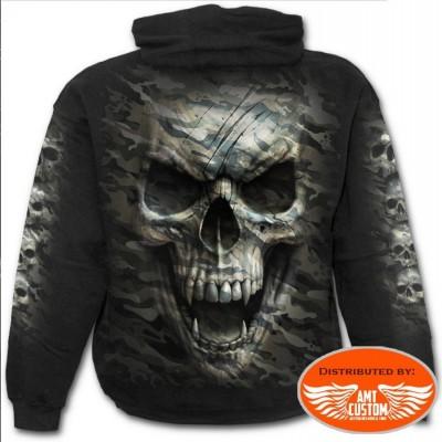 Tee shirt Biker Skull Military