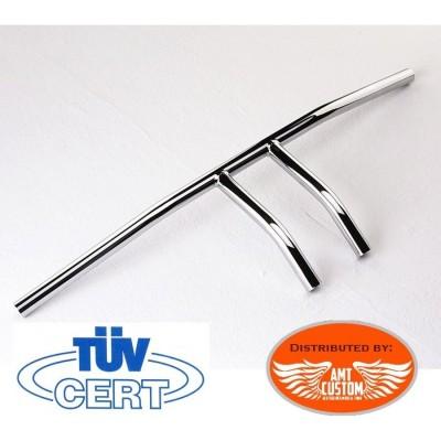 Honda VT125 Shado Guidon T Bar Wishbone chrome 22mm