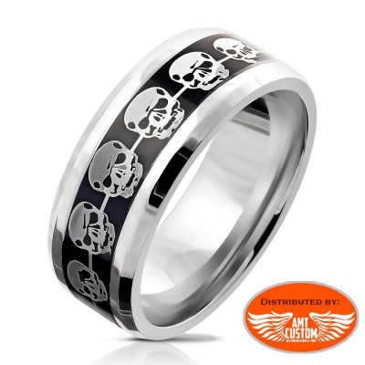 Iron Cross and Skull Ring motorcycles custom
