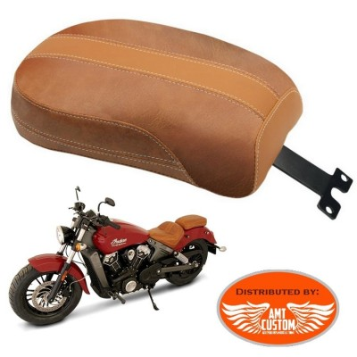 Indian Scout Brown Passenger seat
