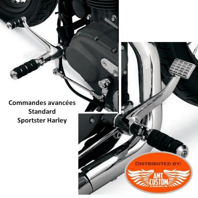 Sportster Kit commandes avancées chromes pour Harley XL 883 et 1200 de 1991 à aujourd'hui