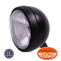 "Additional black spotlight CE 55W 4""1/2 115mm ""USA-Style"" motorcycles"