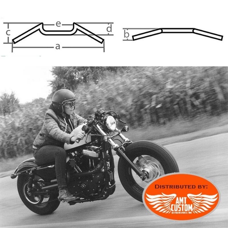Poign/ées Guidon Moto 22Mm L125Mm Bullit Noir Caf/é Racer Vintage BIHR